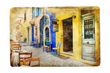 Colors of Sunny Greece - Retro Styled Artistic Picture Posters by  Maugli-l