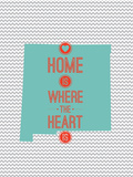 Home Is Where The Heart Is - New Mexico Trykk på strukket lerret
