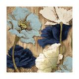 Blue Joyful Poppies II Premium Giclee Print by Elizabeth Medley