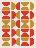 Half Circle Pattern Posters
