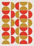 Half Circle Pattern Posters