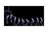 Xray of Human Skeleton Playing Basketball Kunst av  riccardocova
