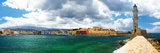 Chania Crete (Greece) - Panoramic Image with Light House Impressão fotográfica por  Maugli-l