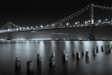 The San Francisco Bay Bridge at Night Reproduction photographique par  Wolterk
