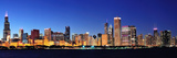 Chicago City Downtown Urban Skyline Panorama at Dusk with Skyscrapers over Lake Michigan with Clear Reproduction photographique par Songquan Deng