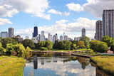 Skyline of Chicago from Northside Looking South towards the City Photographic Print by  soupstock