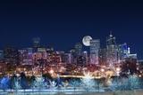 Denver Skyline West Reproduction photographique par  duallogic