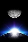 Sunrise and Moon Reproduction photographique par  duallogic