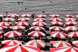Beach Umbrellas Amalfi Coast Italy Foto