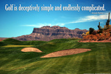 Arnold Palmer Golf Quote Poster Photographie