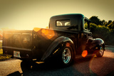 Custom Pickup at Sunset Fotografía