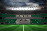 Digitally Generated Nigerian National Flag against Large Football Stadium Impressão fotográfica por Wavebreak Media Ltd