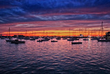 Colorful Sunset Newport Rhode Island Fotografía