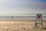 Lone Surfer on Newport Beach Rhode Island Foto