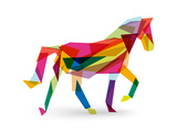 Chinese New Year of the Horse - Abstract Triangle Giclée-Premiumdruck von  cienpies
