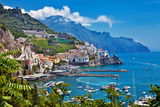 Travel in Italy Series - View of Beautiful Amalfi Photographic Print by  Maugli-l