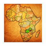 Zambia on Actual Map of Africa Prints by  michal812