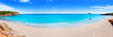 Cala Nova Beach in Ibiza Island Panoramic with Turquoise Water in Balearic Mediterranean Photographic Print by  holbox