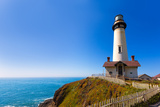 California Pigeon Point Lighthouse in Cabrillo Hwy Coastal Highway State Route 1 Photographic Print by  holbox