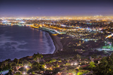 The Pacific Coast of Los Angeles, California as Viewed from Rancho Palos Verdes. Photographic Print by  SeanPavonePhoto