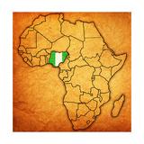Nigeria on Actual Map of Africa Kunst af  michal812