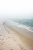 Foggy Dreamy Day at the Beach Fotografie-Druck von  forestpath
