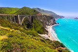 California Bixby Bridge in Big Sur in Monterey County along State Route 1 US Photographic Print by  holbox