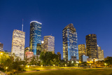 View on Downtown Houston by Night Photographic Print by Jorg Hackemann