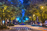 Downtown Athens, Georgia, USA Night Scene. Photographic Print by  SeanPavonePhoto