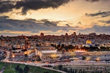 Skyline of the Old City and Temple Mount in Jerusalem, Israel. Photographic Print by  SeanPavonePhoto