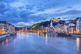 The Saone River in Lyon City Fotografie-Druck von  prochasson