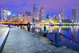 Financial District of Boston, Massachusetts Viewed from Boston Harbor. Photographic Print by  SeanPavonePhoto
