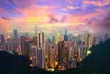 Famed Skyline of Hong Kong from Victoria Peak Photographic Print by  SeanPavonePhoto