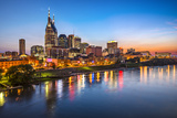 Skyline of Downtown Nashville, Tennessee. Photographic Print by  SeanPavonePhoto