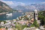 Kotor Bay and Bell Tower of Our Lady of Salvation, Montenegro Fotografie-Druck von  ollirg