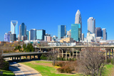 Skyline of Uptown Charlotte, North Carolina. Photographic Print by  SeanPavonePhoto