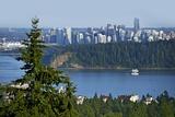 Vancouver Panorama Reproduction photographique par  duallogic