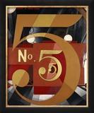 I Saw the Figure 5 in Gold Reproduction giclée encadrée par Charles Demuth