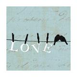 Birds on a Wire Square Poster di  Pela Design