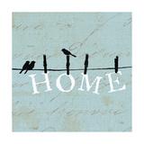 Birds on a Wire Square Posters por  Pela Design