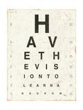 Eye Chart II Stampe di Jess Aiken
