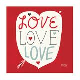 Love Love Love Square Affischer