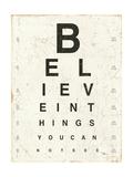 Eye Chart I Stampa di Jess Aiken