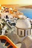 Oia Village at Sunset, Santorini Island, Greece Impressão fotográfica por  Maugli-l