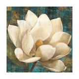 Magnolia Blossom Turquoise Prints by Albena Hristova