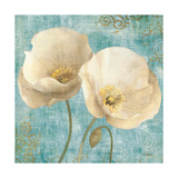 Poppies on Paisley Print by Albena Hristova