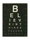 Eye Chart III Poster di Jess Aiken
