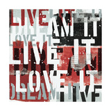 Live the Dream Black and White I Posters