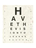 Eye Chart II Láminas por Jess Aiken