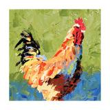 Rooster II Prints by Leslie Saeta